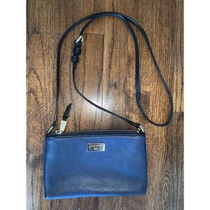 EUC Cole Haan crossbody blue and black with gold